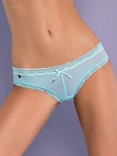 Corella szorty błękitne - dopasowujące się do figury, z kokardką