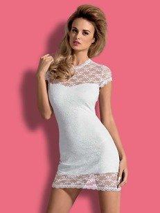 Dressita sukienka i stringi biała - odkrywająca plecy sukienka z białej koronki