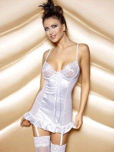 Naomi Set White - piękna koszulka z wstążką