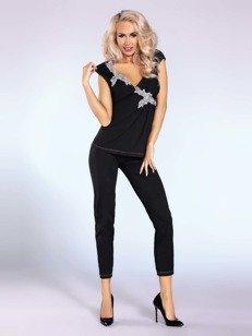 Piżama Siona – czarna – dla zmysłowej domatorki