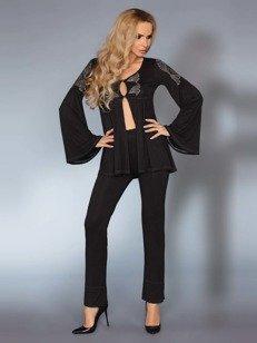 Aruna pidżama - czarna - z szerokimi rękawami WYPRZEDAŻ